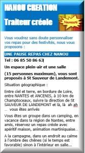 OREE D'ANJOU SALLE TRAITEUR CREOLE