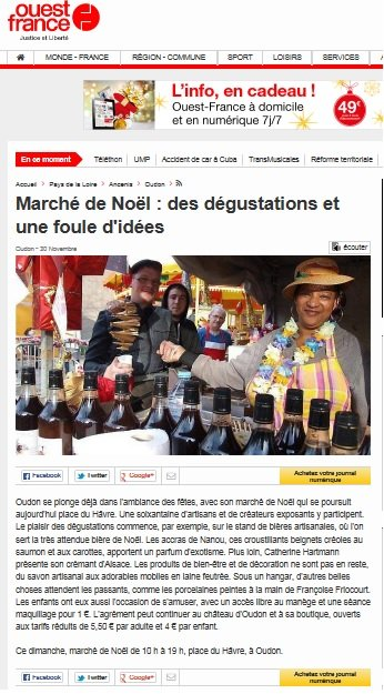NANOU CREATION TRAITEUR ANTILLAIS MARCHE DE NOEL OUDON