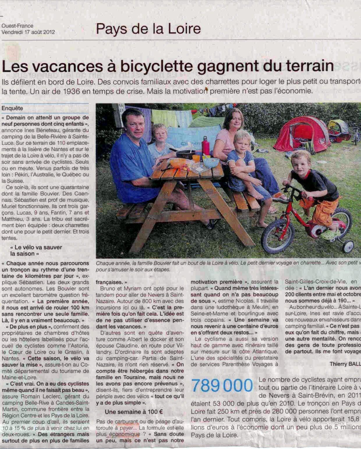 CAMPING-BELLE-RIVIERE-LA-LOIRE-A-VELO BENETEAU INES dans La Loire à vélo