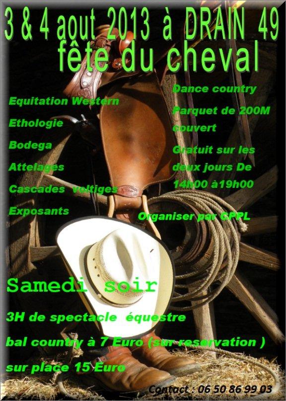 FETE DU CHEVAL 2013 à DRAIN(49) annoncée par Nanou Création traiteur créole