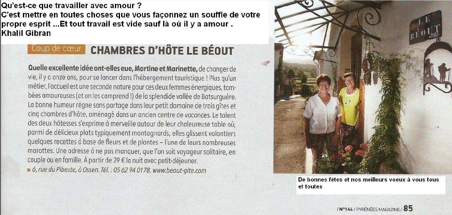 LOURDES une adresse pour un moment agréable : nous avons rencontré Martine et Marinette... dans LOURDES pour un séjour le-beout-gite-lourde-2013-01